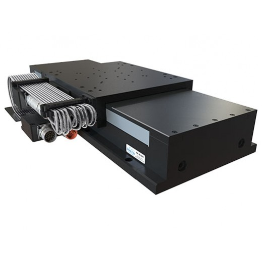 Heavy Duty, Precision Linear Stage with Ironcore Linear Servo Drive, Recirculating Linear Guide Ways, Linear Encoder, and Side Seals