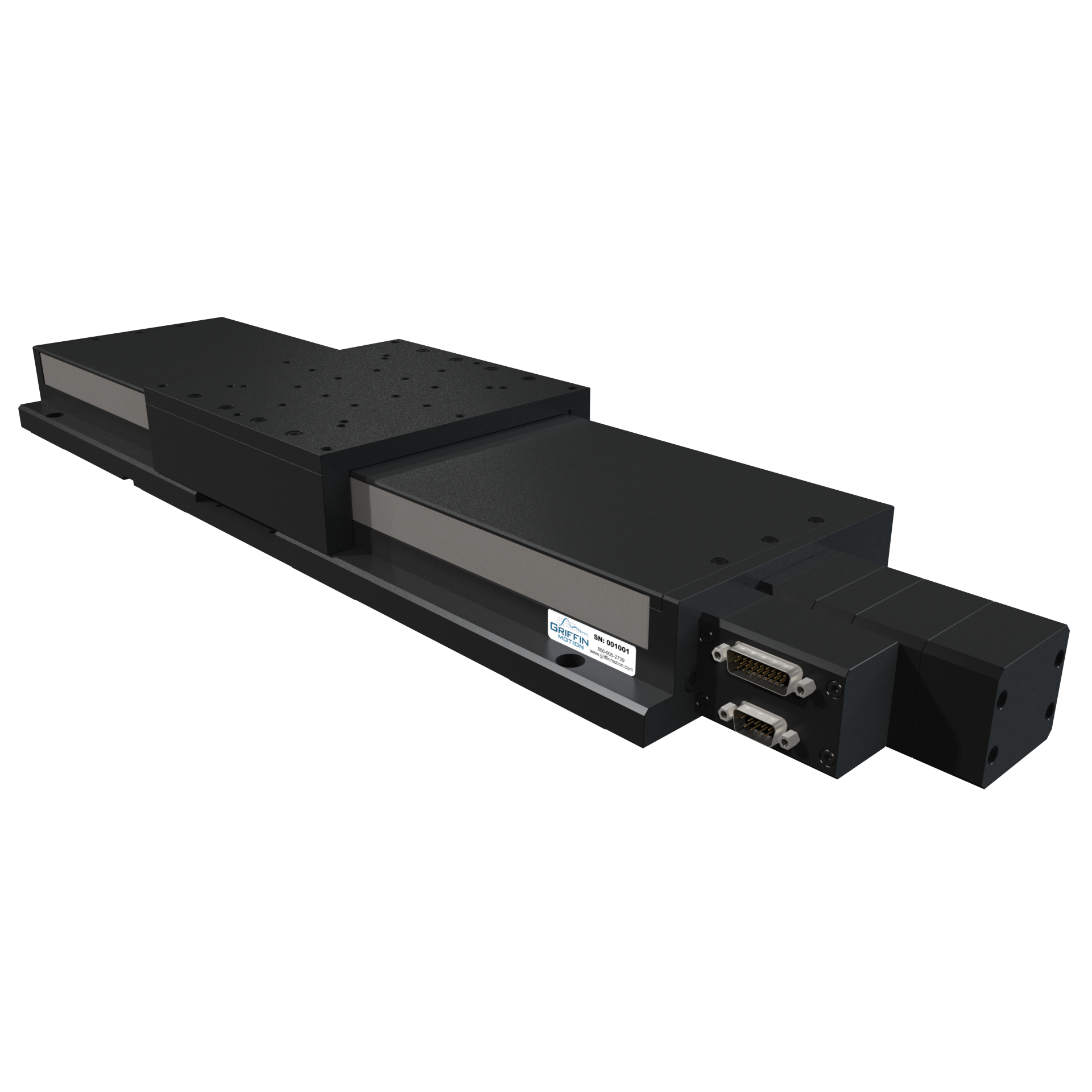 Precision Linear Stage with Brushless Servo Ball Screw Drive, Recirculating Linear Guide Ways, Rotary Encoder, and Side Seals and Brake