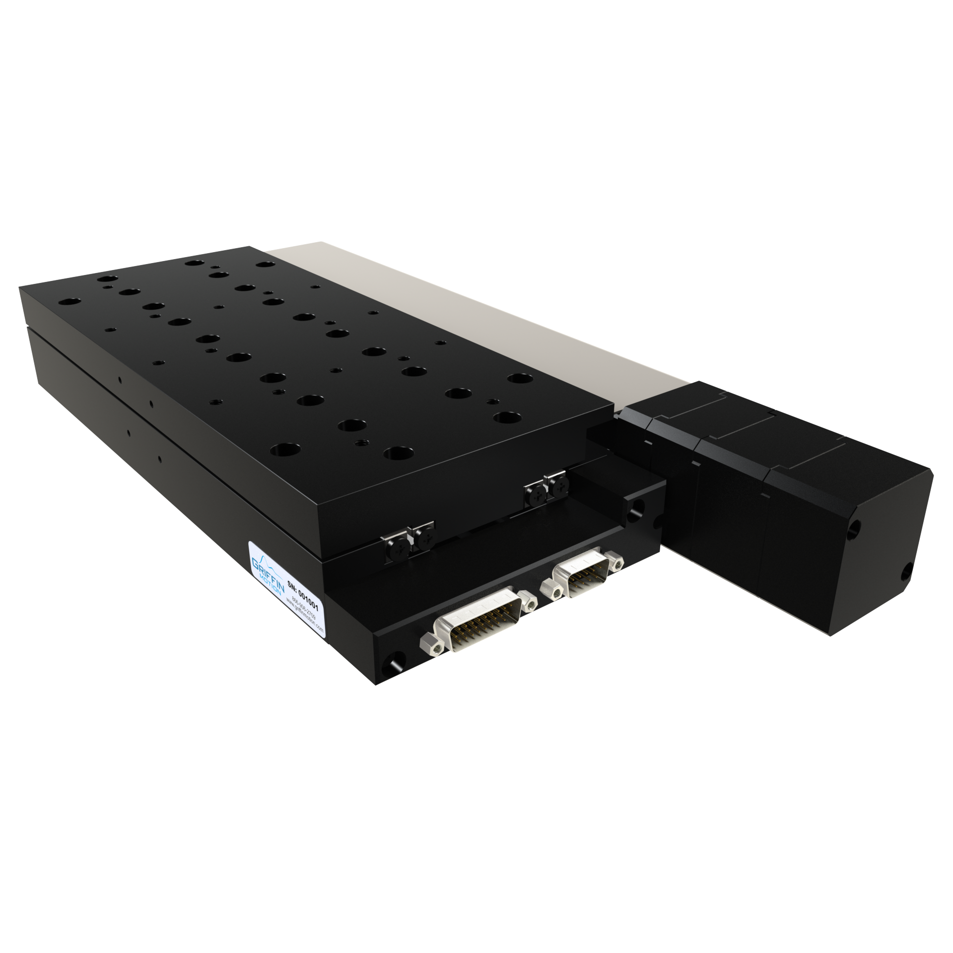 Precision Linear Stage with Brushless Servo Ball Screw Drive, Crossed Roller Ways, Rotary Encoder, and Power off Brake