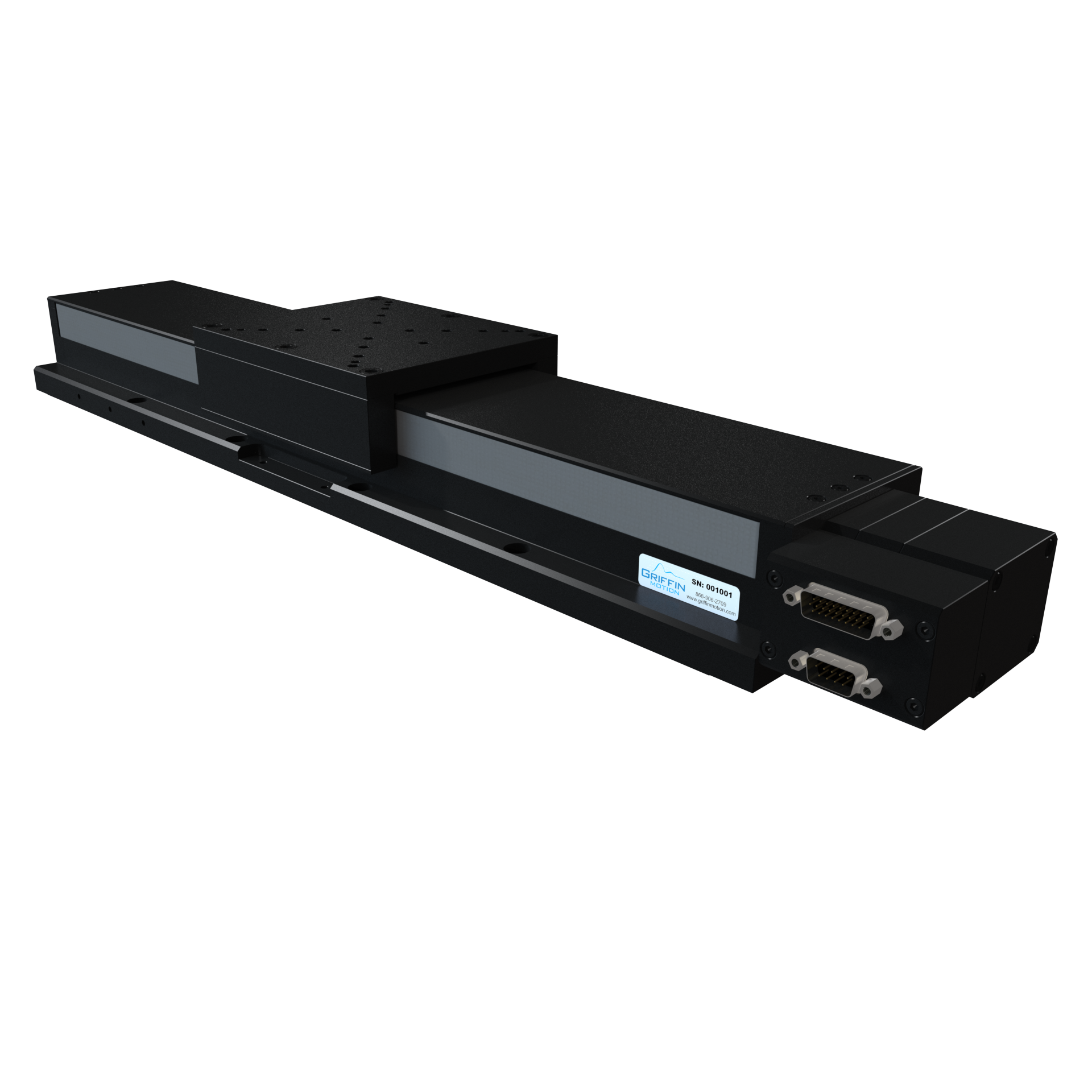 Precision Linear Stage with Brushless Servo Ball Screw Drive, Recirculating Linear Guide Ways, Rotary Encoder, and Side Seals