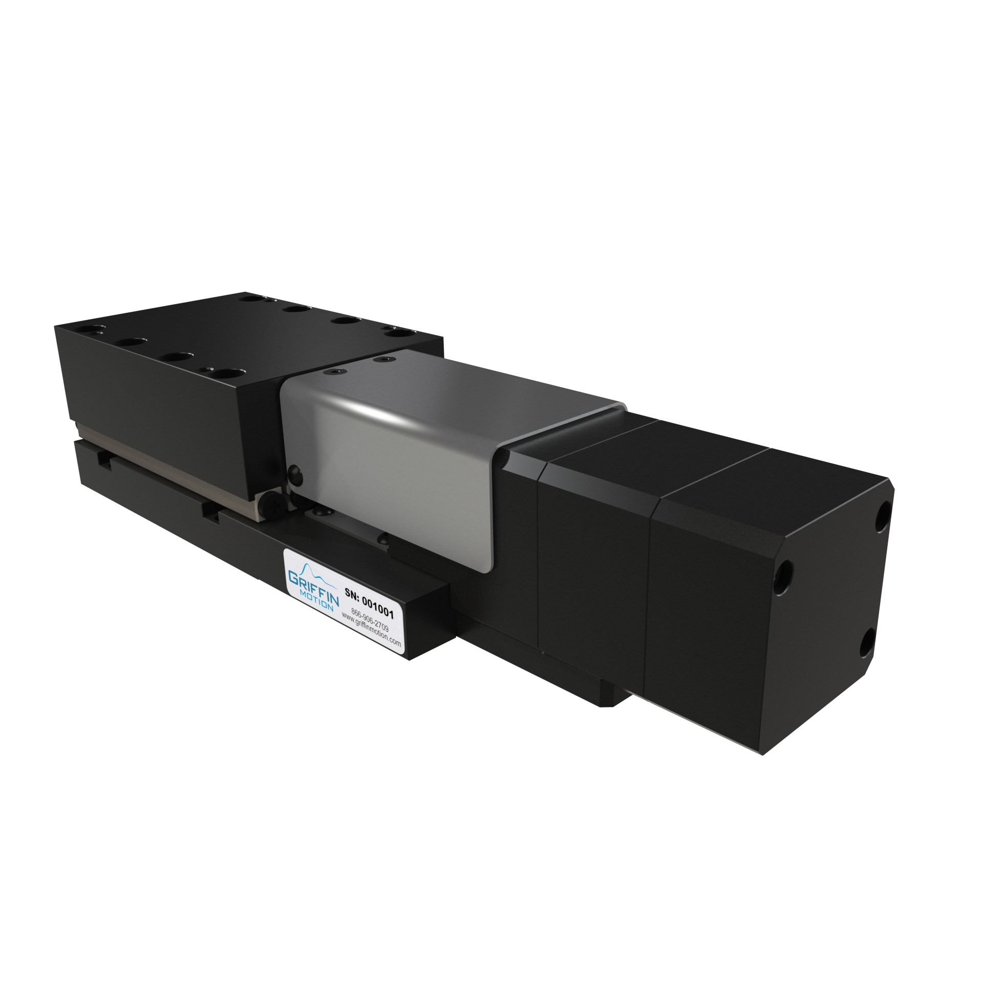 Compact, high accuracy linear stage with brake for vertical positioning