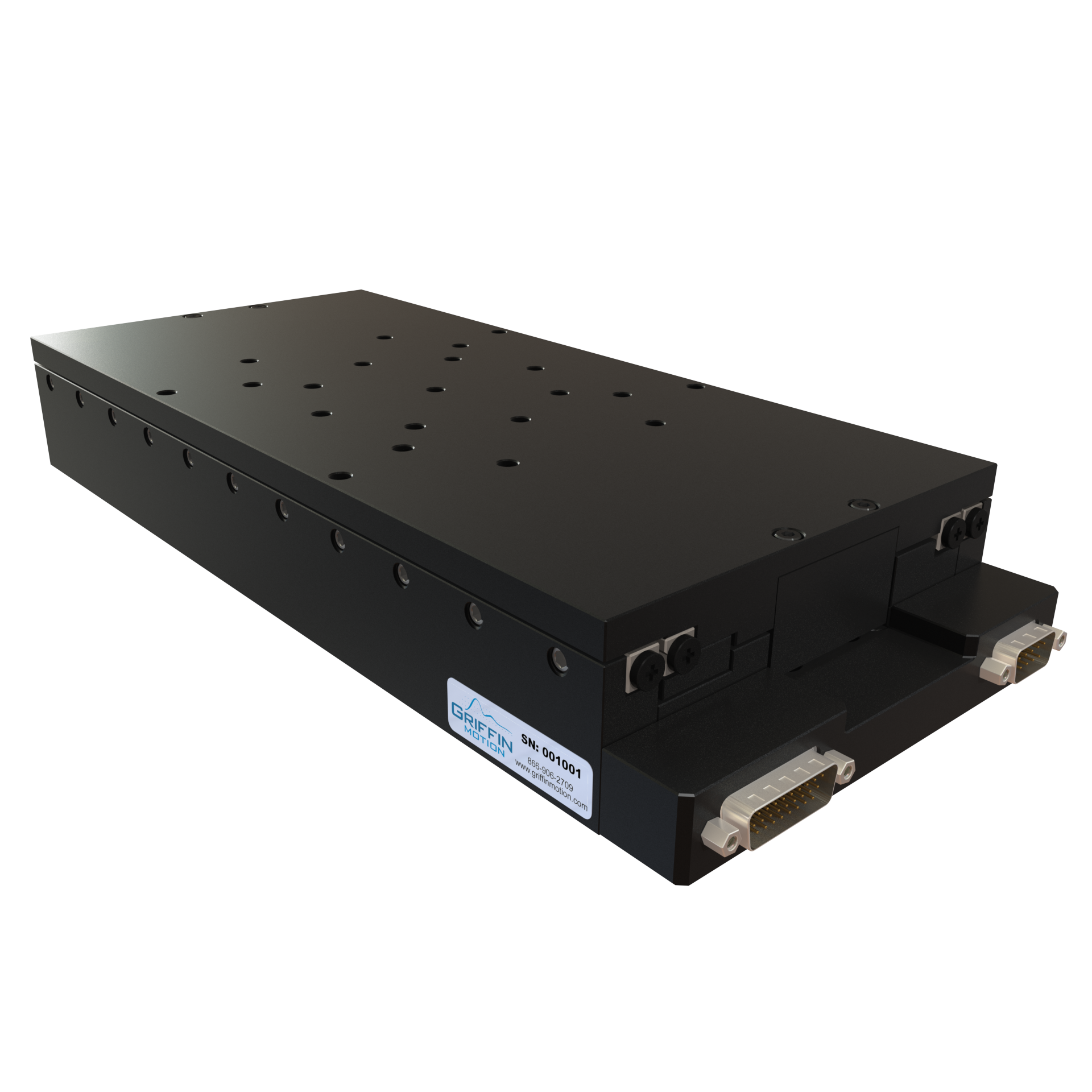 Precision Linear Stage with Ironless Linear Servo Drive, Crossed Roller Ways, and Linear Encoder