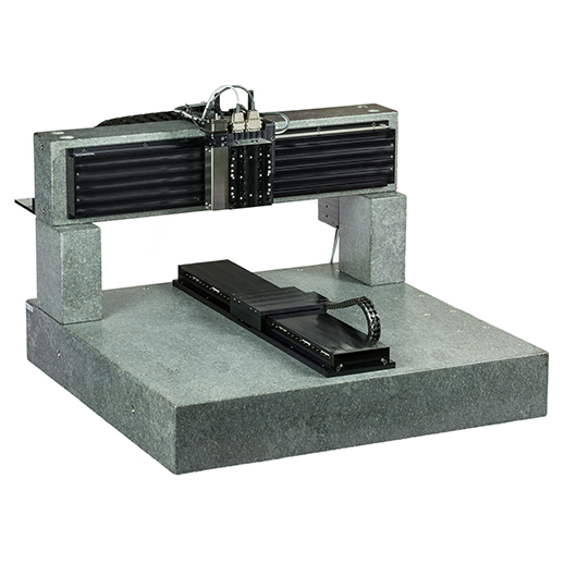 Multi-axis granite motion platform system is built for extremely high levels of repeatability and accuracy for automation.